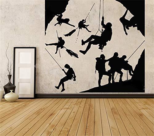 Wandtattoo Kinderzimmer Wandtattoo Wohnzimmer Klettern begeistertes Team Extremsport Bergseil Hobby Design Pattern Aufkleber Wohnzimmer