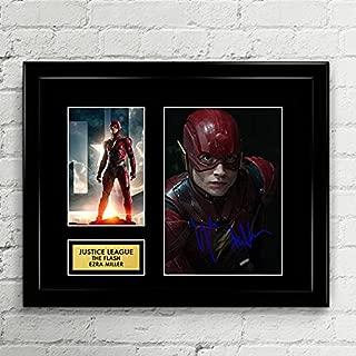 Ezra Miller The Flash Justice League Signed Autographed Photo Mat Custom Framed 11 x 14 Replica Reprint Rp
