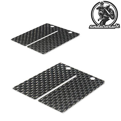endurocult - 2x Carbon Membran kompatibel mit Yamaha DT 100/125/175 + RD 250/350/400 + TY 250