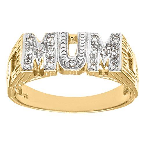 Citerna 9 ct Yellow Gold Stone Set Mum Fancy Ring - Size T