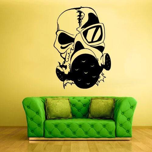 Zombie Gas Masker Muursticker Sticker Muurdecoratie Slaapkamer Decoratie Grafische Decor Huis Huis Kamer Kids Jongens Man grot z2039 Eenvoudig aan te brengen en verwijderbaar