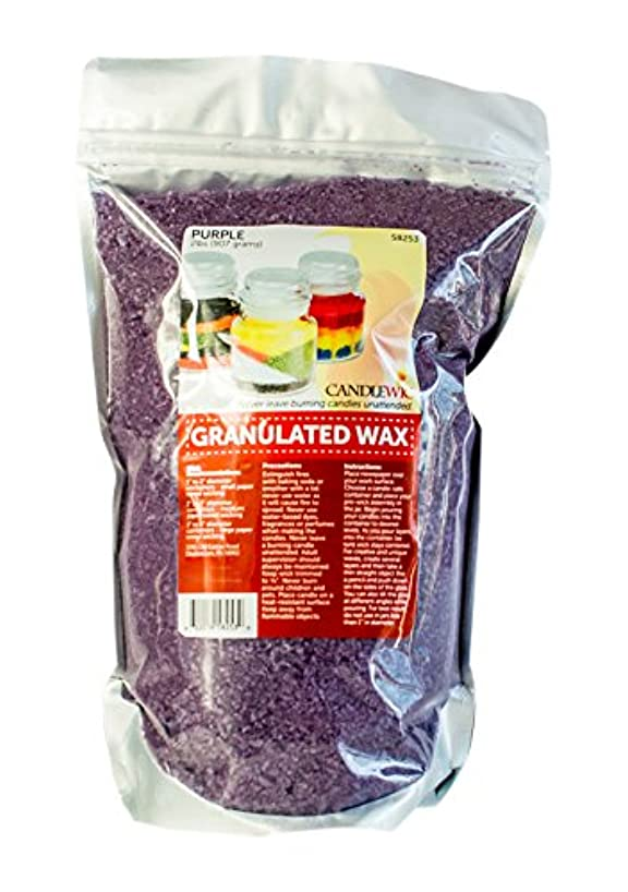 Candlewic Vibrant Granulated Wax Art for Custom Candle Crafts, 2 lb, Purple