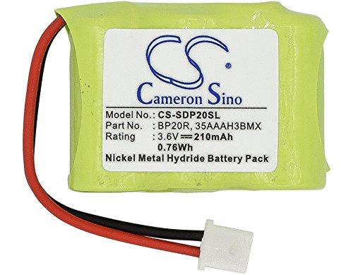 cameronsion 210mAh CS de sdp20sl para Dogtra Receiver da009175NCP 200NCP 202NCP 280NCP 282NCP 300M 302M 7000M 7002M EF de 3000Old 22000NCP 150NCP YS de 200Dog Training Collar batería