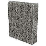 Gabione Pflanzenkorb Stahl | befüllbare Steinkörbe |eckige Gabionenkörbe | für Stützmauern Gartenzaun Gabionenwand Mauer Säule verzinkt, 80 x 20 x 100 cm
