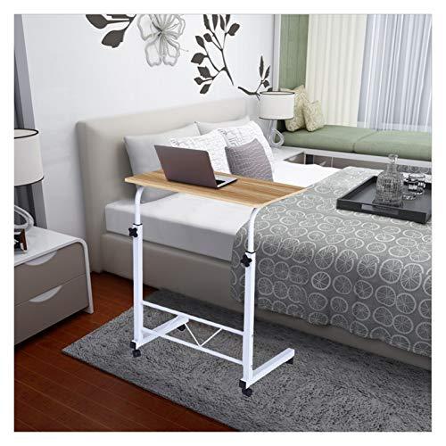 ABD Mesa sobrecama con ruedas para el hogar, oficina, portátil, mesa para el hogar, ajustable, movible, elevable, escritorio, tableta, portátil, soporte para cama, sofá (color: amarillo)