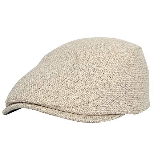 WITHMOONS Summer Cotton Flat Ivy Gatsby Newsboy Driving Hat Cap MZ30038 (Beige)