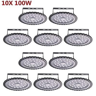 10 Pack 200W UFO LED High Bay Lights, 20000LM Daylight White 6000K-6500K Ultra Thin LED Warehouse Lighting, IP65 Waterproof Commercial Bay Lighting Shop Area Garage Gym Light by Getseason