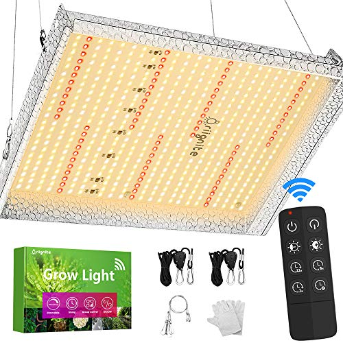 Briignite 1000W LED Grow Light, Full Spectrum Plant Light with 415pcs LED, 3x3ft Coverage, 15600lm 5 Brightness Dimmable, Remote Control & Timer, Grow Lamp for Indoor Seedling Veg and Bloom Greenhouse