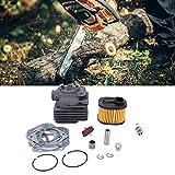 Cilindro de motosierra, kit de pistón de motosierra resistente al desgaste para Husqvarna 372 XP 362365371 para reemplazar piezas viejas dañadas