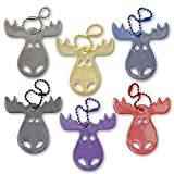 funflector Safety Reflector - Moose - Mixed Colors - 6-Pack