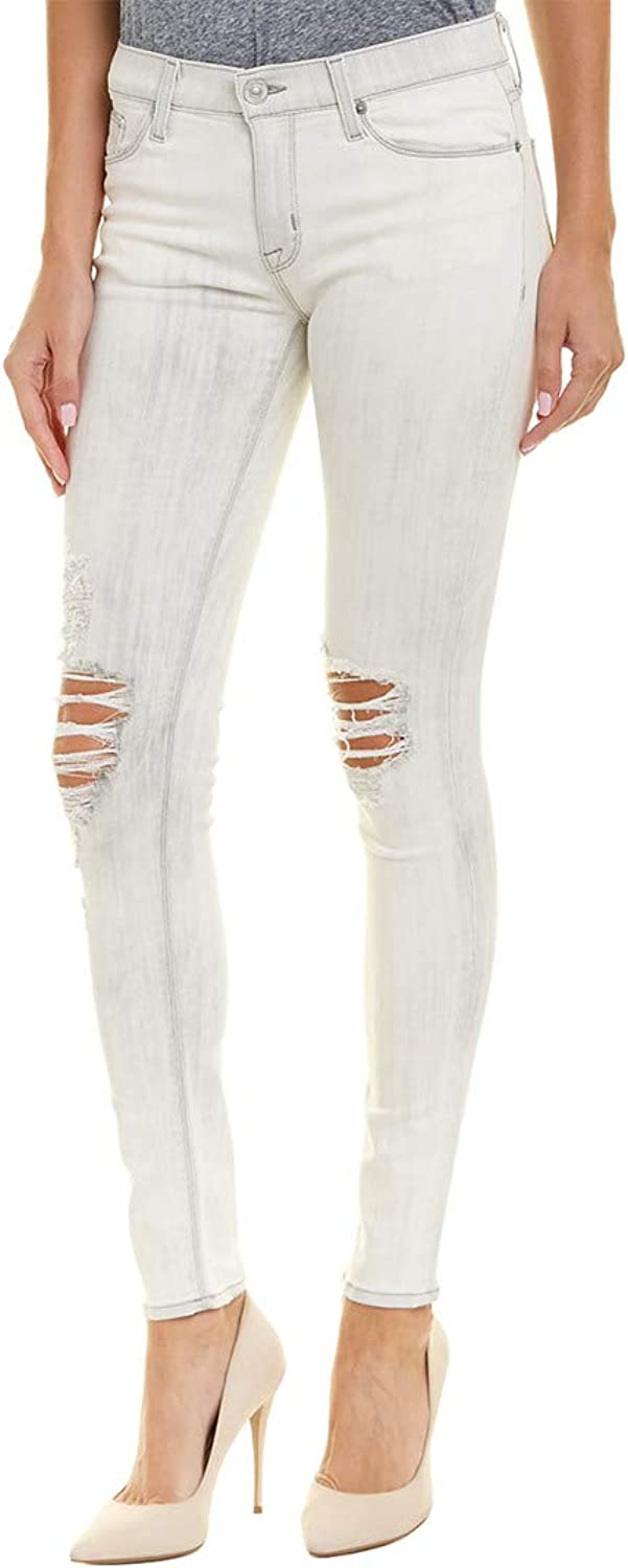 Hudson Jeans Women's Nico Midrise Super Skinny Jeans in Powdered Stratus