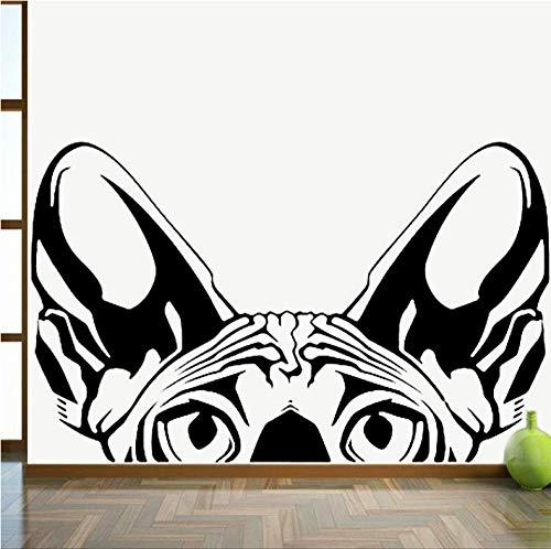 Pegatina De Pared Bricolaje Mural Pvc Animales Gato Fondo Del Sofá De Noche Decoración Del Hogar Sala De Estar Dormitorio Techo 67X42cm