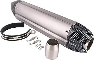 Silenciador de Escape para Motocicleta - Tubo de Escape de Entrada Universal de 1.5-2