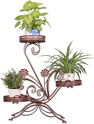 Vaas Outdoor bloempot tuin woonkamer indoor bloemen frame decoratieve plant lijst drie lagen plant frame droog bloem namaakjes grote bloemen vloer 61 * 68 cm woonaccessoires decoratie