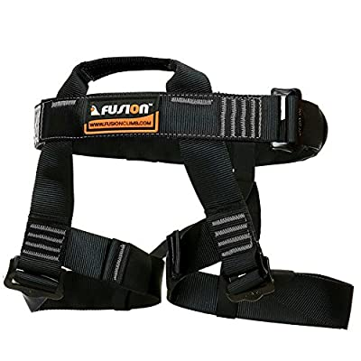 Fusion Climb TCH-107-2139-3-BLKGRY Half Body Climbing Harness, Black Gray, One Size