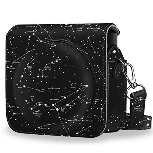 Fintie - Funda protectora compatible con Fujifilm Instax Square SQ6 Instant Film Camera – Funda de piel sintética premium con correa ajustable extraíble, constelación