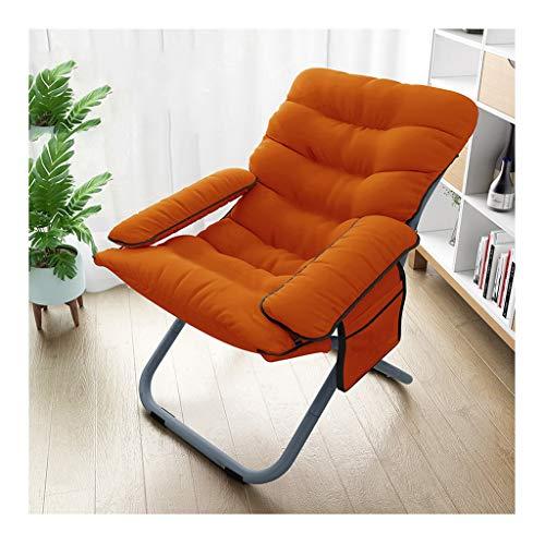 Chaise Pliante Orange Canapé Paresseux Lavable Ordinateur Canapé Tabouret Salon Chambre Salon Fauteuil Inclinable Multifonction Chaise