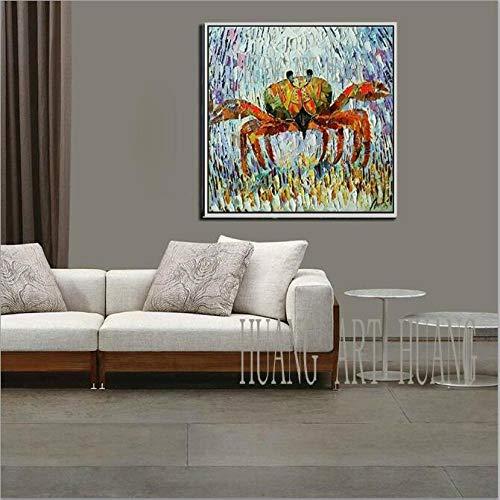 AFASSW, grote krabbe, kunst, muur, canvas, aquarium, dieren, moderne koppen, in liefde foto voor slaapkamer, woonkamer, decoratie, huis, olieverfschilderij 44×44inch (110×110cm)