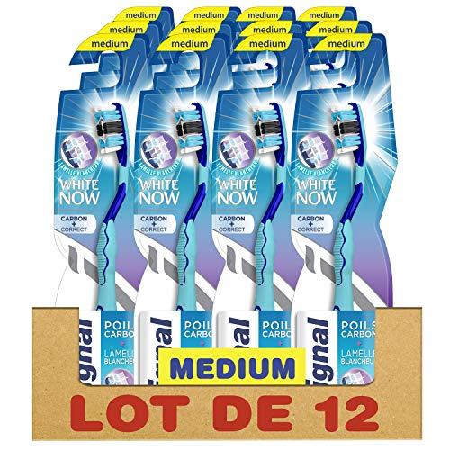 Signal Zahnbürste White Now Carbon Correct, mittelgroß, 12 Stück