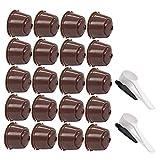 Camisin 20 unidades recargables para cápsula de café Dolce-Gusto para máquina Dolci Nescafe Filtro de café reutilizable marrón