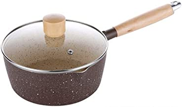 NXYCG Non stick Milk Pot Instant Noodle Soup Pot Boiling Noodle Pot Auxiliary Wooden Handle