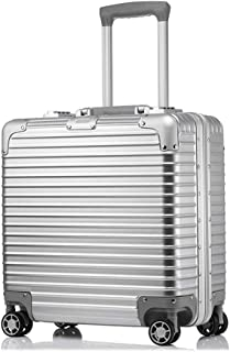 Super Lightweight Hard Shell Travel Carry On Cabin Hand Luggage Suitcase with Built in TSA Approved 3 Digit Combination Lock (Color : Silver)