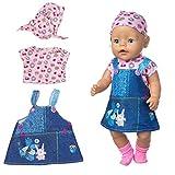 ZEEREE Ropa para Muñecos Bebé New Born Baby Doll, Trajes 17-18 'Ropa de Muñecas para Bebés (40-45 cm) (Sin Incluir Los Calcetines)