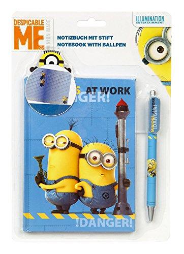 Undercover MNOH2140 - Notizbuch mit Stift Minions, liniert, blau