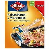 Albal Bolsas para horno y microondas, válvula de cierre, zona fría, capacidad...