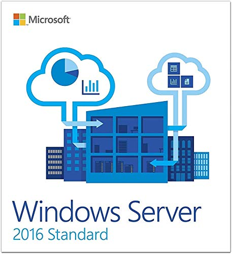 Licença Windows Server 2016 Standard - Cartão Novo 64-Bits Envio correios!