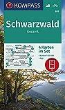 KOMPASS Wanderkarte Schwarzwald Gesamt: 4 Wanderkarten 1:50000 im Set inklusive Karte zur offline Verwendung in der KOMPASS-App. Fahrradfahren. (KOMPASS-Wanderkarten, Band 888)