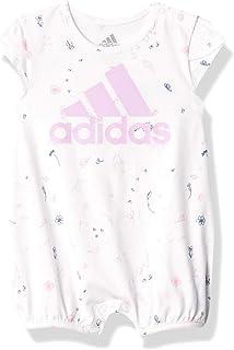adidas Baby Girls' Shortie PRNT Romper