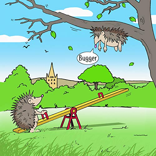 Twizler Funny Card with Hedgehog...
