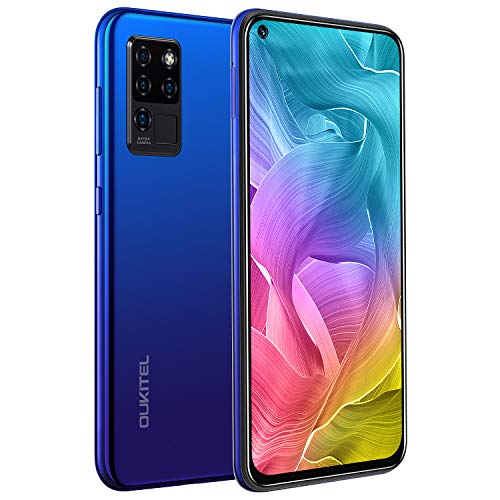 Smartphone, OUKITEL C21, Display 6.4  FHD+ DotDisplay, 4GB RAM+64GB ROM 4G Cellulari Offerte, 16MP Quad Fotocamere Posteriori+Fotocamera Selfie 20 MP, 4000mAh Batteria, Android 10 Cellulare - Blu