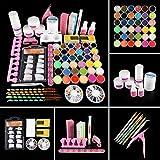 Acrylic Nail Kit Acrylic Powder Liquid Set Brush Glitter File French Tips Nail Art Decoration Tools Professional Manicure Set