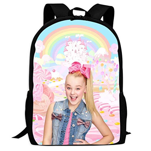 Not Applicable Jojo-Siwa School Backpack Children Cool Lightweight Bookbags Teenage Bag
