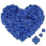4000PCS Pétales de Rose Bleu Artificielle en Soie pour Décoration de Mariage, Saint Valentin, Fête, Anniversaire -Pétales de Fleur Eternelle Cadeau pour Amie/Copine/Financée/Femme/Maman