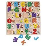 Backbayia Blocs de madera, juego de puzle de juguete Montessori Juguete educativo de Cognición precoz