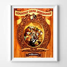 Disneyland Country Bear Jamboree Wall Art Poster Home Decor Print Vintage Artwork Reproduction - Unframed