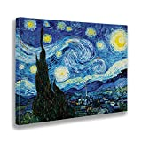 Giallobus - Quadro - Stampa su Tela Canvas - Vincent Van Gogh - Notte Stellata - 100 X 140 Cm