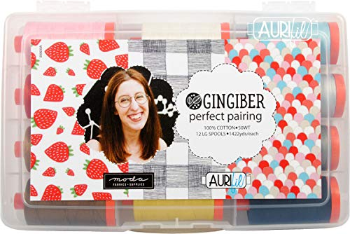Review Of Gingiber's Perfect Pairing Aurifil Thread Kit 12 Large Spools 50 Weight SB50GPP12
