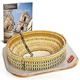 CubicFun Puzzle 3D Colosseo Romano Italia Architettura Kit di Modellismo con Libretto del National G