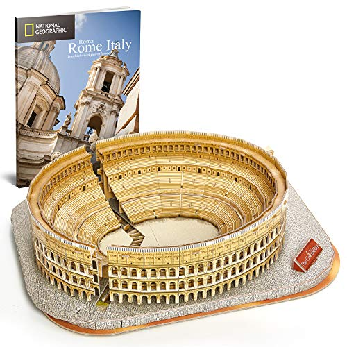CubicFun 3D Jigsaw Puzzles for Kids Adults Rome The Colosseum National Geographic Italy Jigsaw Puzzle DIY Building Model Kit 131 Pieces