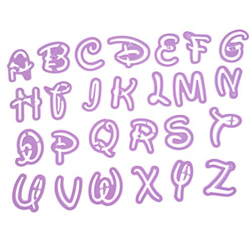 TianranRT Barre de Cuisine Style Lettre Cutter Fondant Cookie Stamp Gâteau Décoration 26 Moule Alphabet