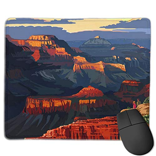Grand Canyon Mouse Pad with Stitched Edges,Non-Slip Rubber Base Keyboard Pad,Mouse Pad for Gaming,Office and Home,11.8 x 9.8 in,Desk Pad