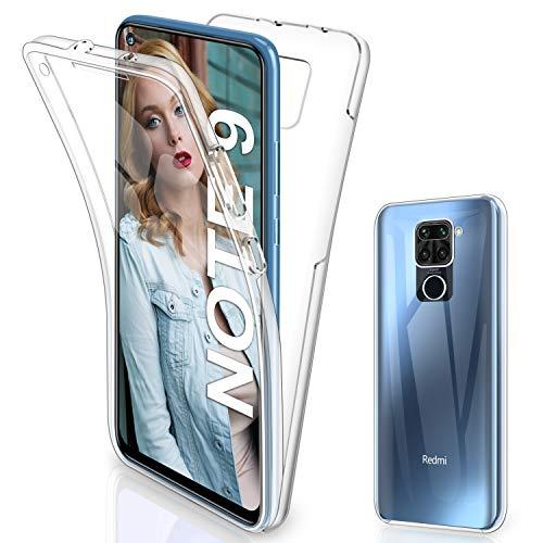 Gnews für Xiaomi Redmi Note 9 Hülle, für Xiaomi Redmi Note 9 Schutzhülle 360 Grad Full Body Front Und Rückenschutz Handyhülle Transparent Schutzhülle Durchsichtige Bumper für Xiaomi Redmi Note 9