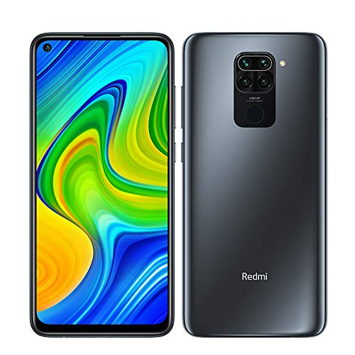 "Xiaomi Redmi Note 9 Smartphone 4GB 128GB Hotshot de cámara cuádruple de 48MP 6.53"" FHD+ DotDisplay 5020 mAh 3.5mm Headphone Jack NFC Negro"