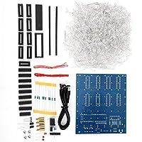 LEDライトキット、DIYインピーダンスPCBプロトタイプボードキット、8 x 8 x8CMキューブ用4.5-5.5V電源