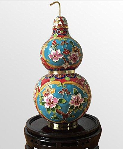 Blue flowers Gourd Ornaments Kupferreifen Cloisonne Cloisonne Kürbis Flasche Büro Heimeinrichtung