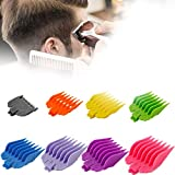 Hair Limit Comb Universal Set, 8 Sizes Colorful Professional Hair Clipper Guards Guide Combs Fits All Wahl Electric Hair Clipper Shaver Replacement Guards Guides Set for Man Hair Cutting